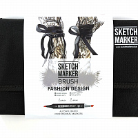 Набор маркеров SKETCHMARKER BRUSH 24 Fashion Design - Дизайн одежды (24 маркера + сумка органайзер)