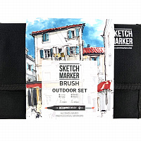 Набор маркеров SKETCHMARKER BRUSH 24 Outdoor Set - Плэнер (24 маркера + сумка органайзер)
