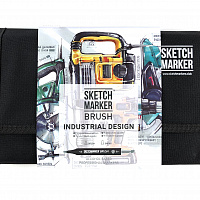 Набор маркеров SKETCHMARKER BRUSH 24 Industrial Design - Промышленный дизайн (24 маркера + сумка)