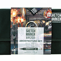 Набор маркеров SKETCHMARKER BRUSH 24 Architecture Set - Архитектура (24 маркера + сумка органайзер)