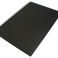 Скетчбук Seawhite A2 Portrait Black Cloth Hardbacked Sketchbook 92 страницы, плотность 140gsm