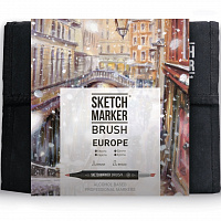 Набор маркеров SKETCHMARKER BRUSH 36 EUROPA - Европа (36 маркеров + сумка органайзер)