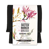Набор маркеров SKETCHMARKER BRUSH 12 Spring Set - Весна (12 маркеров + сумка органайзер)